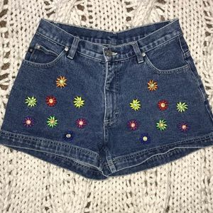 No Boundaries Floral Embroidered Shorts